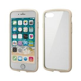 エレコム ELECOM iPhone SE(第2世代)4.7インチ対応 TOUGH SLIM LITE フレームカラー アイボリー PM-A19ATSLFCIV
