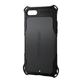 エレコム ELECOM iPhone SE(第2世代)4.7インチ対応 ZEROSHOCK スタンダード ブラック PM-A19AZEROBK