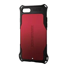 エレコム ELECOM iPhone SE(第2世代)4.7インチ対応 ZEROSHOCK スタンダード レッド PM-A19AZERORD