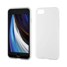 エレコム ELECOM iPhone SE(第2世代)4.7インチ対応 ハイブリッドケース シリコン クリア PM-A19AHVSCCR