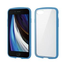 エレコム ELECOM iPhone SE(第2世代)4.7インチ対応 TOUGH SLIM LITE フレームカラー ブルー PM-A19ATSLFCBU