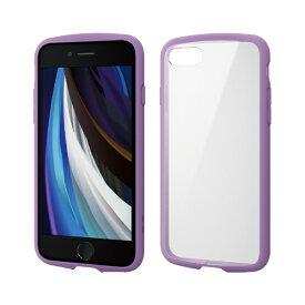 エレコム ELECOM iPhone SE(第2世代)4.7インチ対応 TOUGH SLIM LITE フレームカラー パープル PM-A19ATSLFCPU