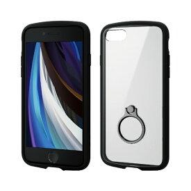 エレコム ELECOM iPhone SE(第2世代)4.7インチ対応 TOUGH SLIM LITE フレームカラー リング付 ブラック PM-A19ATSLFCRBK