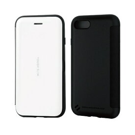 エレコム ELECOM iPhone SE(第2世代)4.7インチ対応 TOUGH SLIM シェルフラップ ホワイト PM-A19ATSSWH