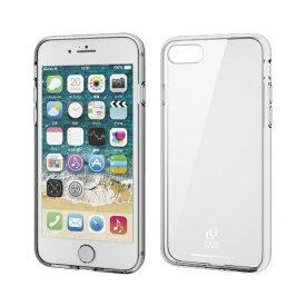 エレコム ELECOM iPhone SE(第2世代)4.7インチ対応 ハイブリッドケース ガラス スタンダード クリア PM-A19AHVCG1CR