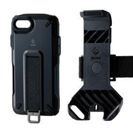 エレコム ELECOM iPhone SE(第2世代)4.7インチ対応 NESTOUT Trekking ブラック PM-A19ANESTTBK