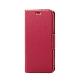エレコム ELECOM iPhone SE(第2世代)4.7インチ対応 ソフトレザーケース 薄型 女子向 磁石付 ディープピンク PM-A19APLFUJPND