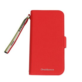イングリウッド inglewood iPhone 11 Orobianco サフィアーノ調 PU Leather Book Type Case RED orobianco IP11-ORB03