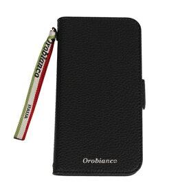 イングリウッド inglewood iPhone 11 Orobianco シュリンク PU Leather Book Type Case BLACK orobianco IP11-ORB05
