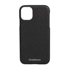 イングリウッド inglewood iPhone 11 Orobianco サフィアーノ調 PU Leather Back Case BLACK orobianco IP11-ORB09