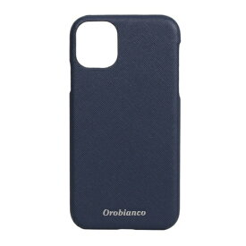 イングリウッド inglewood iPhone 11 Orobianco サフィアーノ調 PU Leather Back Case NAVY orobianco IP11-ORB10