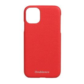 イングリウッド inglewood iPhone 11 Orobianco サフィアーノ調 PU Leather Back Case RED orobianco IP11-ORB11