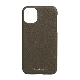 イングリウッド inglewood iPhone 11 Orobianco サフィアーノ調 PU Leather Back Case KHAKI orobianco IP11-ORB12