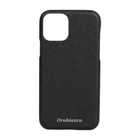 イングリウッド inglewood iPhone 11 Pro Orobianco サフィアーノ調 PU Leather Back Case BLACK orobianco IP11p-ORB09