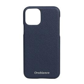 イングリウッド inglewood iPhone 11 Pro Orobianco サフィアーノ調 PU Leather Back Case NAVY Orobianco IP11p-ORB10