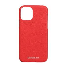 イングリウッド inglewood iPhone 11 Pro Orobianco サフィアーノ調 PU Leather Back Case RED Orobianco IP11p-ORB11