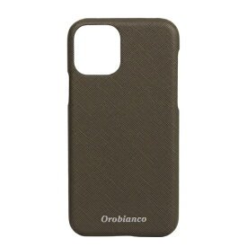 イングリウッド inglewood iPhone 11 Pro Orobianco サフィアーノ調 PU Leather Back Case KHAKI Orobianco IP11p-ORB12