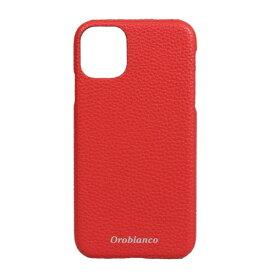 イングリウッド inglewood iPhone 11 Orobianco シュリンク PU Leather Back Case RED Orobianco IP11-ORB15