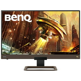 BenQ ベンキュー EX2780Q USB-C接続 ゲーミングモニター メタリックグレー x ブラウン [27型 /ワイド /WQHD(2560×1440)]