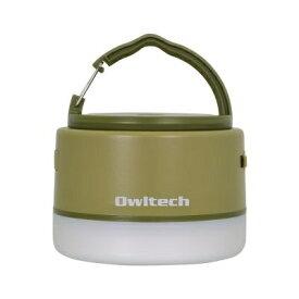 OWLTECH オウルテック LEDランタン モバイルバッテリー付き 6700mAh LEDランタンとして使いながらスマートフォンの充電もできる。 カーキ OWL-LPB6701LA-KH [LED /充電式 /防水]