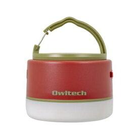 OWLTECH オウルテック LEDランタン モバイルバッテリー付き 6700mAh LEDランタンとして使いながらスマートフォンの充電もできる。 レッド OWL-LPB6701LA-RE [LED /充電式 /防水]
