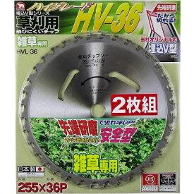 バクマ工業 BAKUMA INDUSTRIAL バクマ 草刈用 刈払いチップソー HV-36 お買得2枚組 バクマ HVL-36-2P
