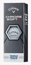 キャロウェイ Callaway ゴルフボール CHROME SOFT X ホワイト [3球(1スリーブ) /スピン系]