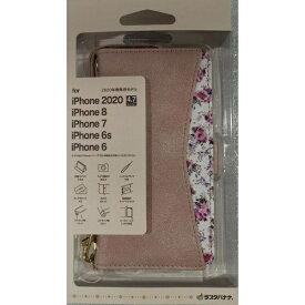 ラスタバナナ RastaBanana iPhone SE(第2世代)4.7インチ/8/7/6s共用 花柄手帳型ケース LPK 5459IP047BO ライトピンク