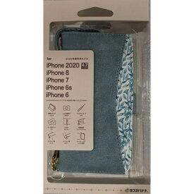 ラスタバナナ RastaBanana iPhone SE(第2世代)4.7インチ/8/7/6s共用 花柄手帳型ケース LBL 5461IP047BO ライトブルー