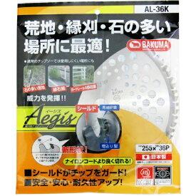 バクマ工業 BAKUMA INDUSTRIAL バクマ 草刈チップソー イージス 日本製 JIS規格 バクマ AL-36K