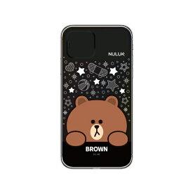 ROA ロア iPhone 11 LIGHT UP CASE スター ブラウン LINE FRIENDS KCE-CSA089