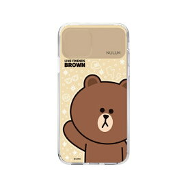 ROA ロア iPhone 11 LIGHT UP CASE ベーシック ブラウン LINE FRIENDS KCE-CSA019