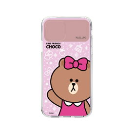 ROA ロア iPhone 11 LIGHT UP CASE ベーシック チョコ LINE FRIENDS KCE-CSA021