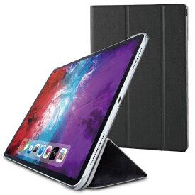 エレコム ELECOM 12.9インチ iPad Pro(第4世代)用 フラップカバー 背面クリア ソフトレザーフラップ 2アングル スリープ対応 ブラック TB-A20PLWVBK