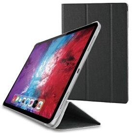 エレコム ELECOM 11インチ iPad Pro(第2世代)用 フラップカバー 背面クリア ソフトレザーフラップ 2アングル スリープ対応 ブラック TB-A20PMWVBK