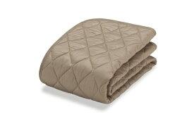 フランスベッド FRANCEBED 【ベッドパッド】羊毛メッシュパッド (セミダブルサイズ+セミダブルサイズ/ベージュ) フランスベッド