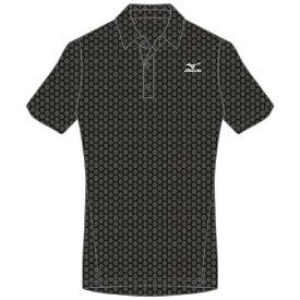 ミズノ mizuno メンズ ドライエアロフローポロシャツ(Mサイズ/ブラック) K2JA0183