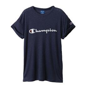 チャンピオン CHAMPION レディース ウィメンズ ロールアップスリーブTシャツ(Mサイズ/ネイビー) CW-RS310