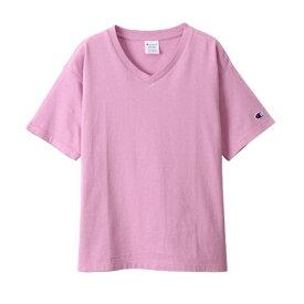 チャンピオン CHAMPION レディース ウィメンズ VネックTシャツ(Mサイズ/パープリッシュピンク) CW-M323
