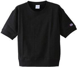 チャンピオン CHAMPION レディース ウィメンズ ショートスリーブスウェットシャツ(Mサイズ/ブラック) CW-M015