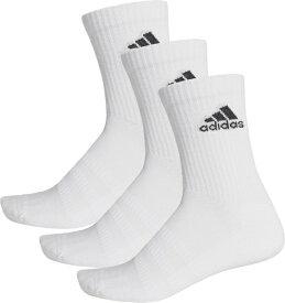 アディダス adidas 男女兼用 パフォーマンス3Pクルーソックス(L:28〜30cm/ホワイト×ホワイト×ブラック) FXI66 DZ9356