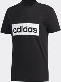 アディダス adidas メンズ MグラフィックTシャツ(Lサイズ/ブラック×ホワイト) GVB54 FM6268