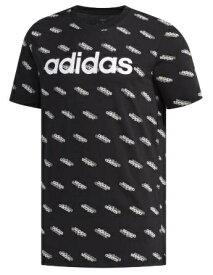 アディダス adidas メンズ フェイバリット 半袖Tシャツ(Mサイズ/ブラック×ホワイト) GVC43 FM6022