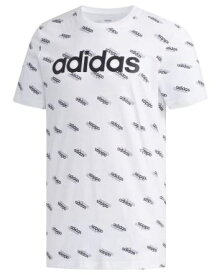 アディダス adidas メンズ フェイバリット 半袖Tシャツ(Lサイズ/ホワイト×ブラック) GVC43 FM6023
