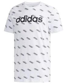 アディダス adidas メンズ フェイバリット 半袖Tシャツ(Oサイズ/ホワイト×ブラック) GVC43 FM6023