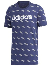 アディダス adidas メンズ フェイバリット 半袖Tシャツ(Oサイズ/テックインディゴ×ホワイト) GVC43 FM6019