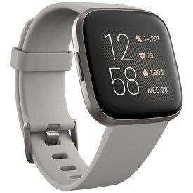 Fitbit フィットビット FB507GYSR-FRCJK Fitbit Versa 2 Alexa搭載 スマートウォッチ Sandstone/Iron Mist L/S サイズ グレー【ribi_rb】