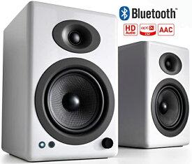 Audioengine オーディオエンジン ブルートゥーススピーカー A5+BTW ハイグロス・ホワイトペイント [Bluetooth対応]