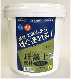 フジワラ化学 Fujiwara Chemical フジワラ化学 珪藻土壁材MIX 10kg モエギ