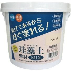 フジワラ化学 Fujiwara Chemical フジワラ化学 #47038 珪藻土壁材MIX 3kg ピーチ